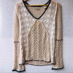 Gimmicks BKE knit v neck sweater Sz S